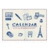 【リュリュ】イラストライフカレンダー 壁掛けタイプ<2017年1月から2018年1月対応>