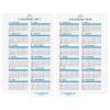 【アシュフォード】2017年版 ミニ6穴サイズ カレンダーリフター【ホワイト】システム手帳リフィル