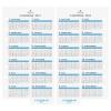 【アシュフォード】2017年版 バイブルサイズ カレンダーリフター【ホワイト】システム手帳リフィル