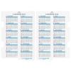 【アシュフォード】2017年版 A5サイズ カレンダーリフター【ホワイト】システム手帳リフィル