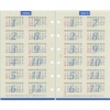 【レイメイ】2017年版 ミニ6穴サイズ ラセ 4年カレンダー システム手帳リフィル