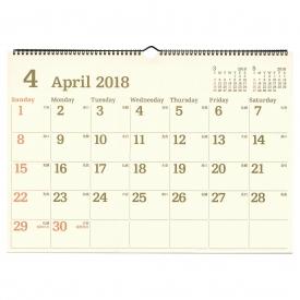 a3 ウォールカレンダー 壁掛け e 2018年3月から2019年3月対応